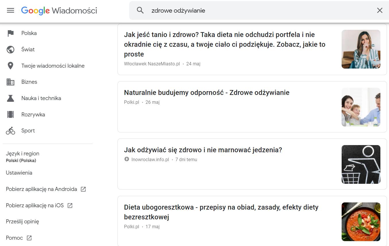Google News - screen