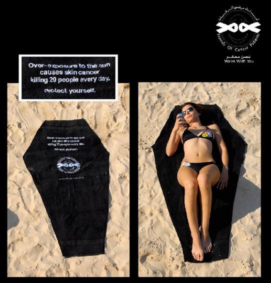 Kampania społeczna - wpływ opalania na raka skóry (screen).